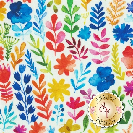 Floral Menagerie 1FMB1 by In The Beginning Fabrics