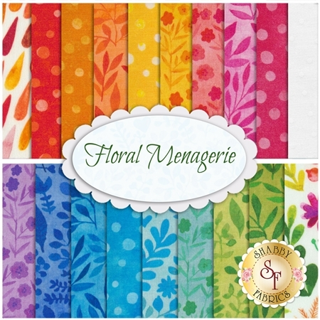 Floral Menagerie  19 FQ Set by In The Beginning Fabrics