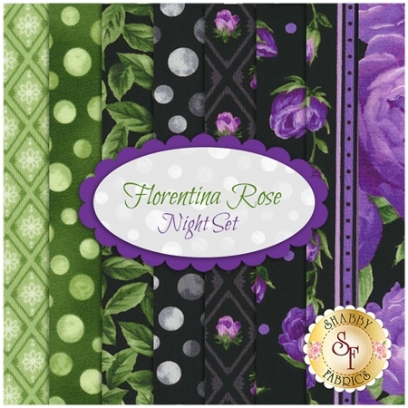Florentina Rose  8 FQ Set - Night Set by Robert Kaufman Fabrics