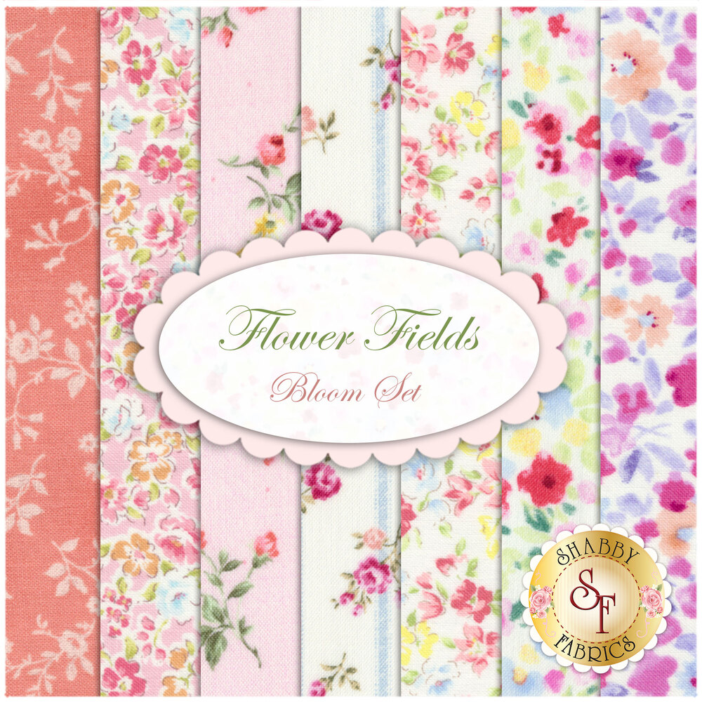 Flower Fields   7 FQ Set - Bloom Set by Lecien Fabrics