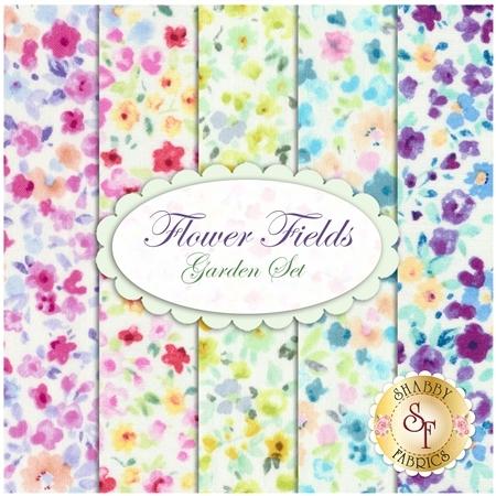 Flower Fields  5 FQ Set - Garden Set by Lecien Fabrics