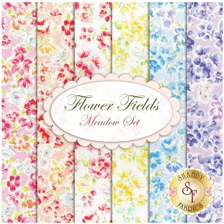 Flower Fields  6 FQ Set - Meadow Set by Lecien Fabrics