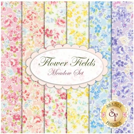 Flower Fields  6 FQ Set - Meadow Set by Lecien Fabrics