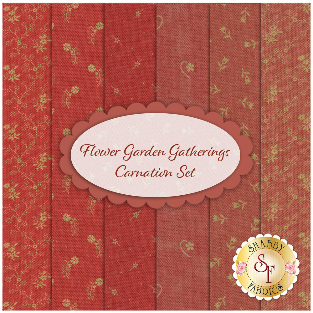 Flower Garden Gatherings  6 FQ Set for Moda Fabrics
