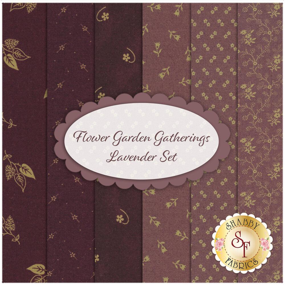 Flower Garden Gatherings  6 FQ Set for Moda Fabrics