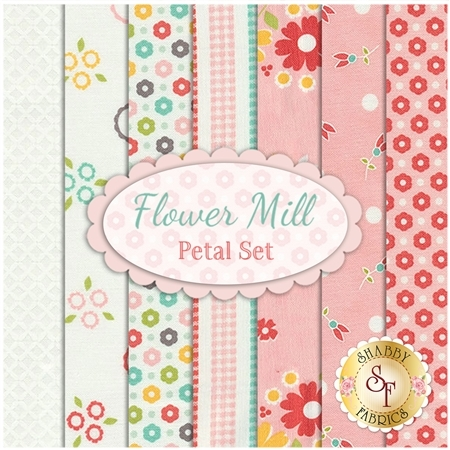 Flower Mill  7 FQ Set - Petal Set by Corey Yoder for Moda Fabrics