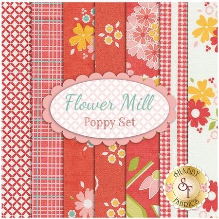 Flower Mill  7 FQ Set - Poppy Set by Corey Yoder for Moda Fabrics