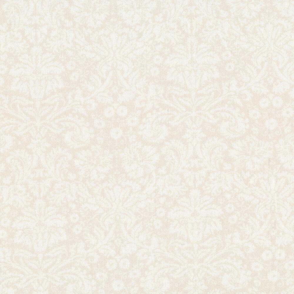 Tonal cream damasks on a cream background | Shabby Fabrics