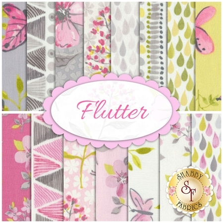 Flutter  15 FQ Set by Ellen Crimi-Trent for Clothworks Fabrics
