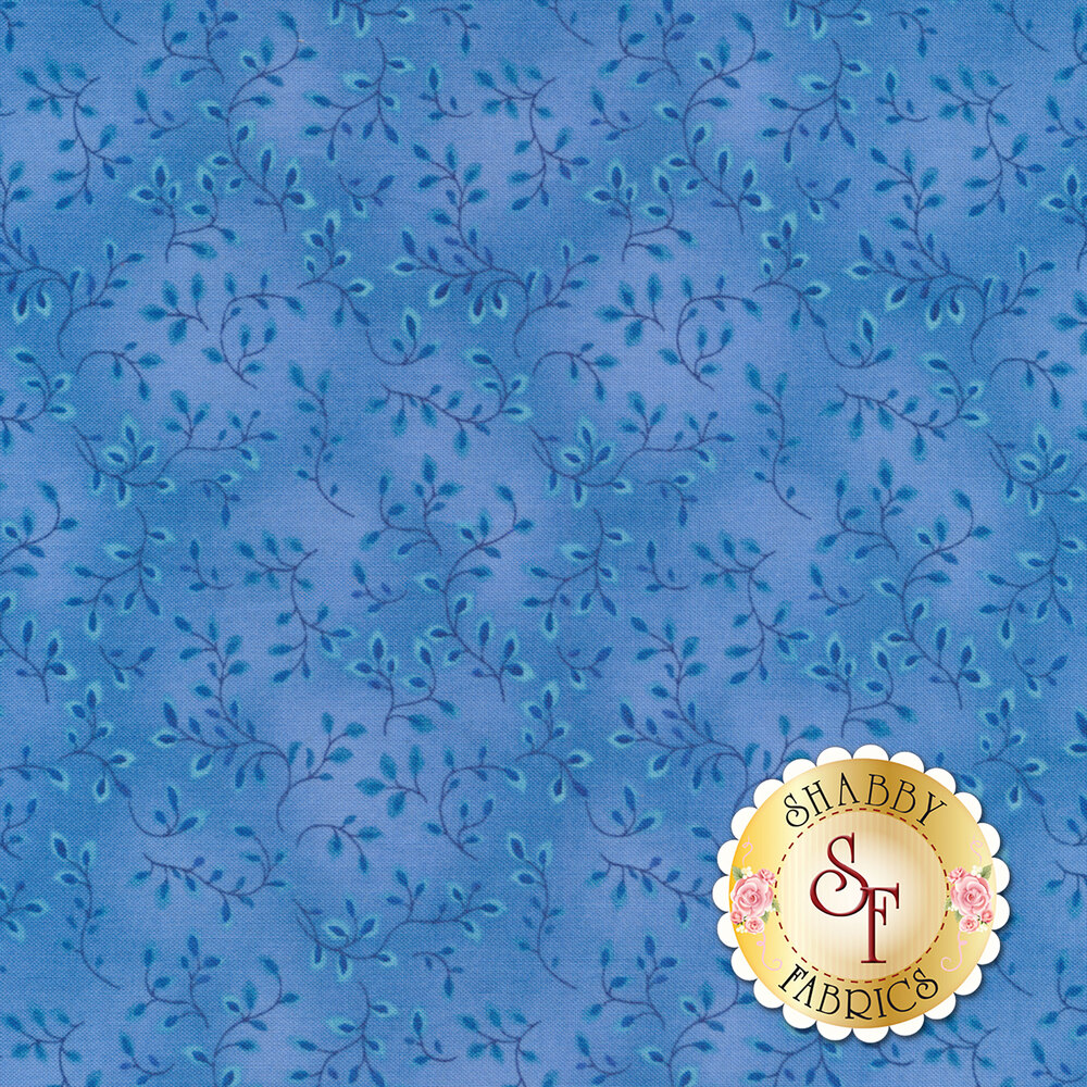 Folio Basics 7755-75 Medium Blue from Henry Glass Fabrics by Color Principle