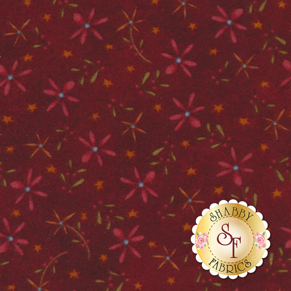 Folk Art Flannel II 2181F-88 by Henry Glass Fabrics available at Shabby Fabrics