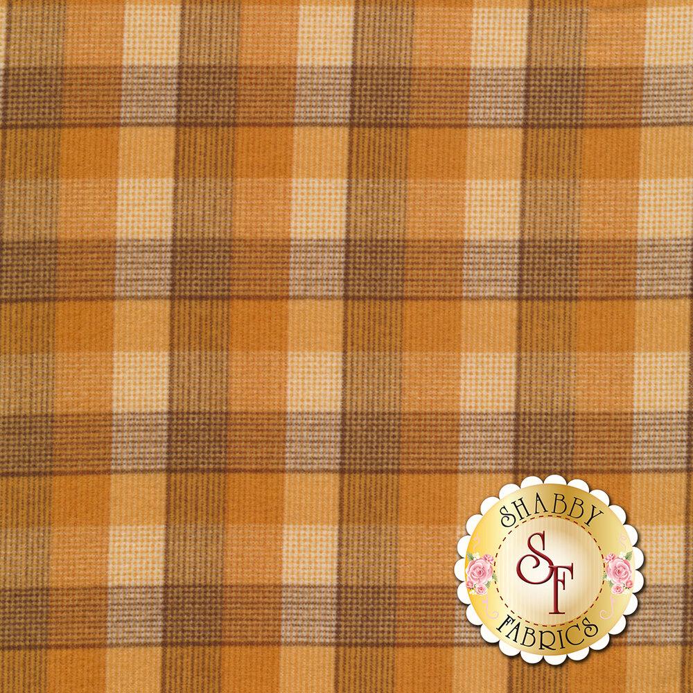 Orange plaid design | Shabby Fabrics