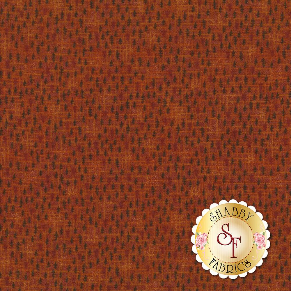 Dotted stars all over textured orange | Shabby Fabrics