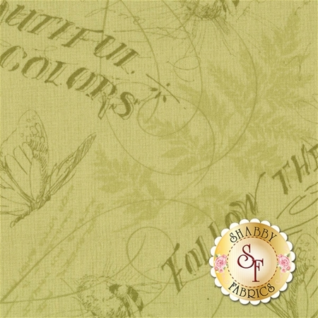 Follow The Sun 86432-777 Toile Green by Lisa Audit for Wilmington Prints- REM