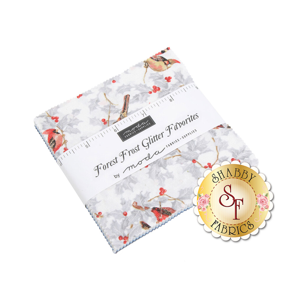 Forest Frost Glitter Favorites Charm Pack by Moda