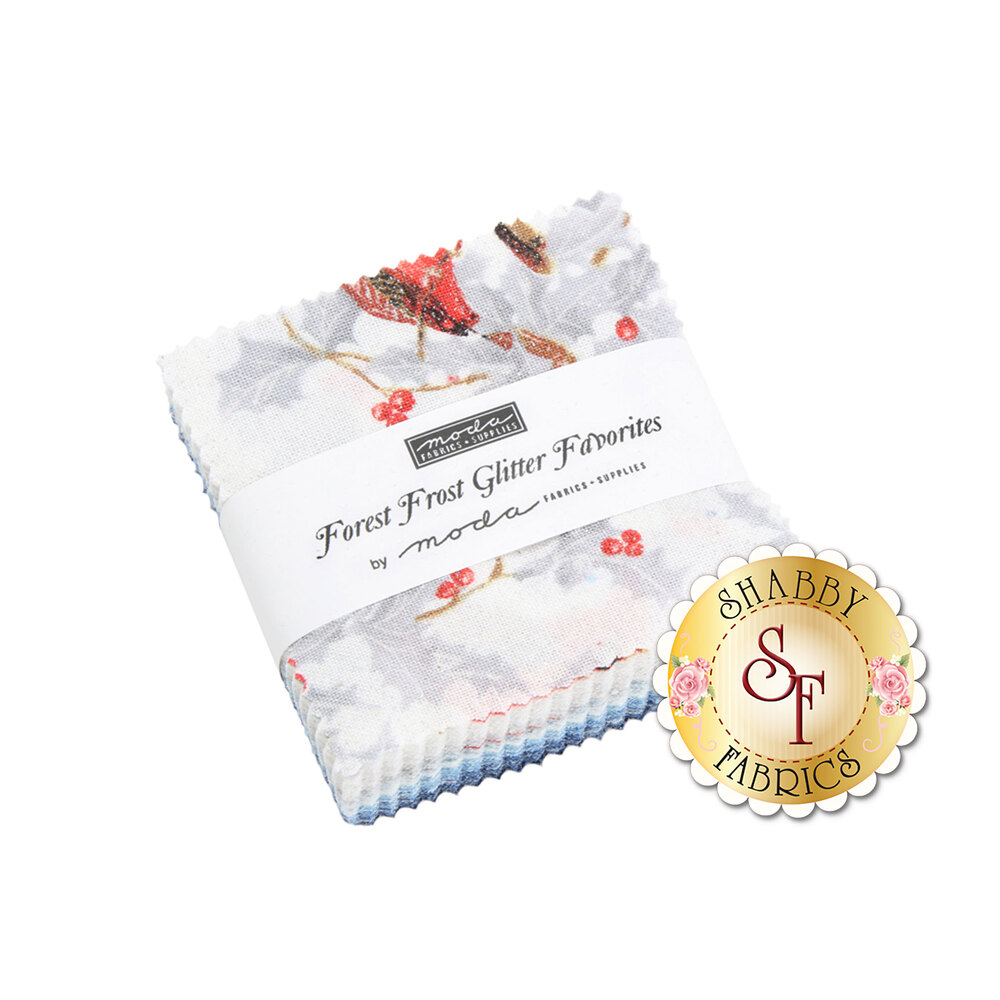 Forest Frost Glitter Favorites Mini Charm Pack by Moda