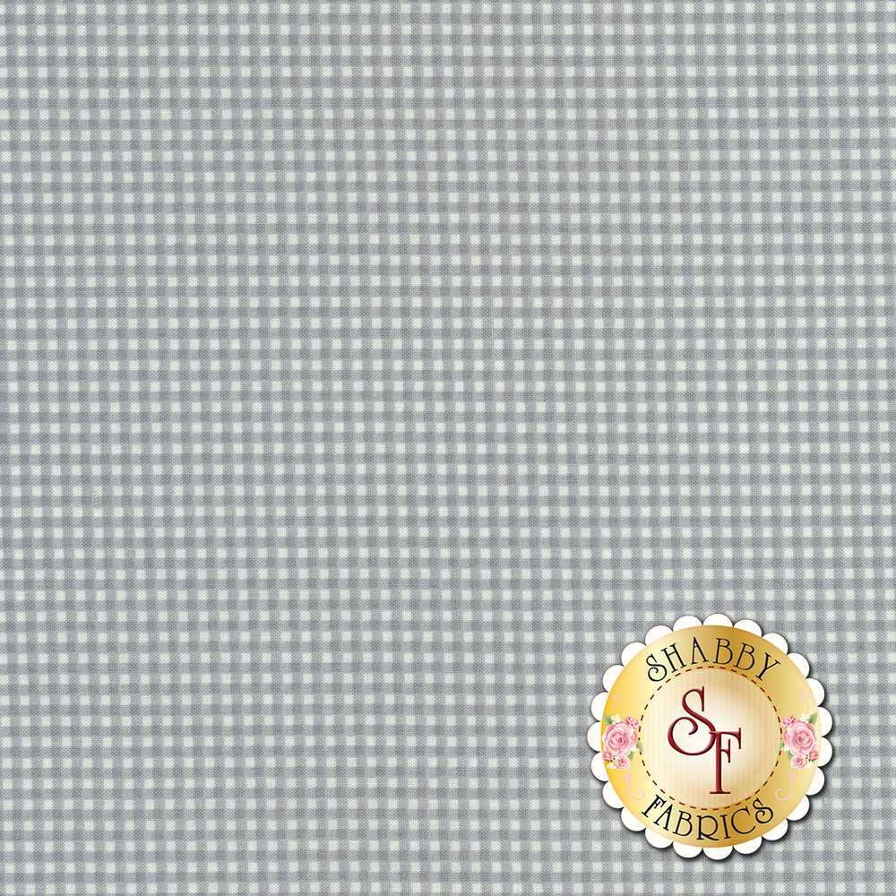 Grey gingham fabric | Shabby Fabrics