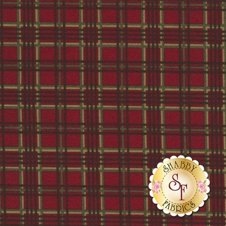 Forever Green 6694-17 Cardinal by Holly Taylor for Moda Fabrics