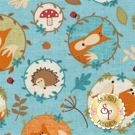 Fox And Friends 21504-63 by Susan Wheeler for Northcott Fabrics