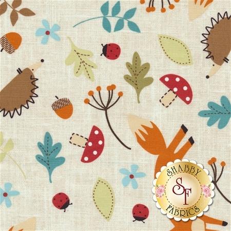 Fox And Friends 21505-11 by Susan Wheeler for Northcott Fabrics