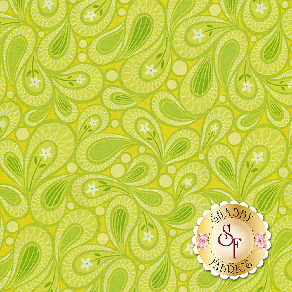 Free Motion Fantasy 5445-42 Paisley Lime by Benartex Fabrics