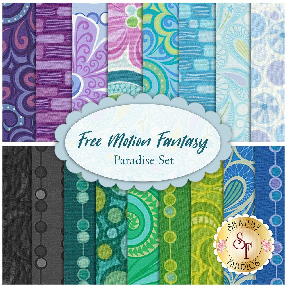 Free Motion Fantasy 17 FQ Set - Paradise Set for Benartex Fabrics