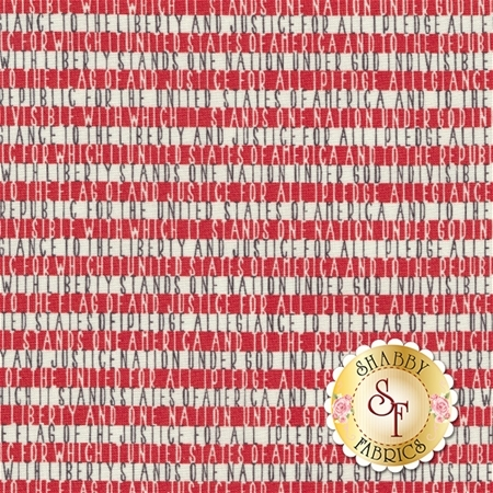Freedom 5643-11 Vanilla Red by Sweetwater for Moda Fabrics