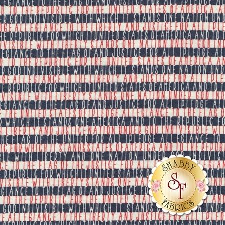Freedom 5643-12 Vanilla Navy by Sweetwater for Moda Fabrics