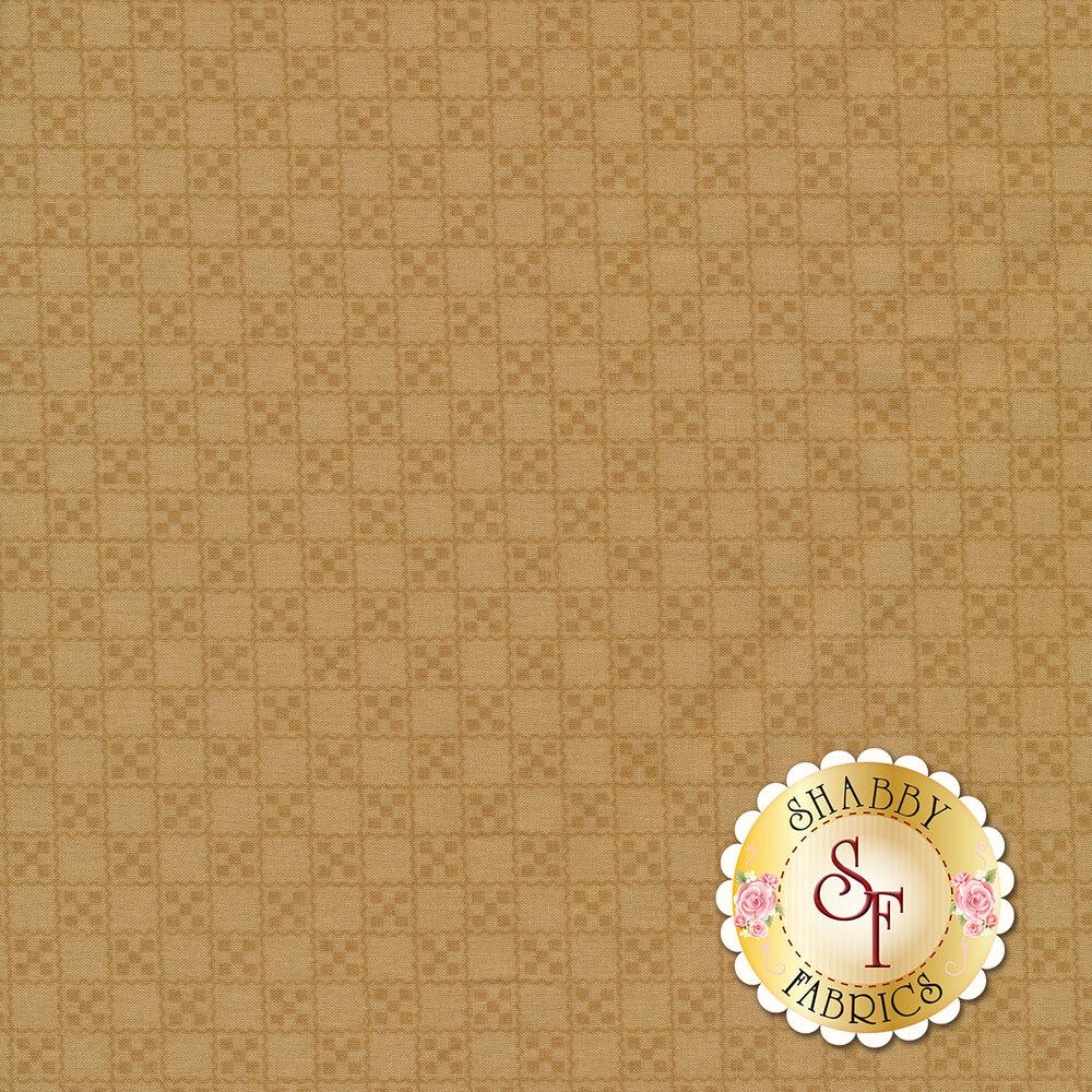 Tonal square grid design | Shabby Fabrics