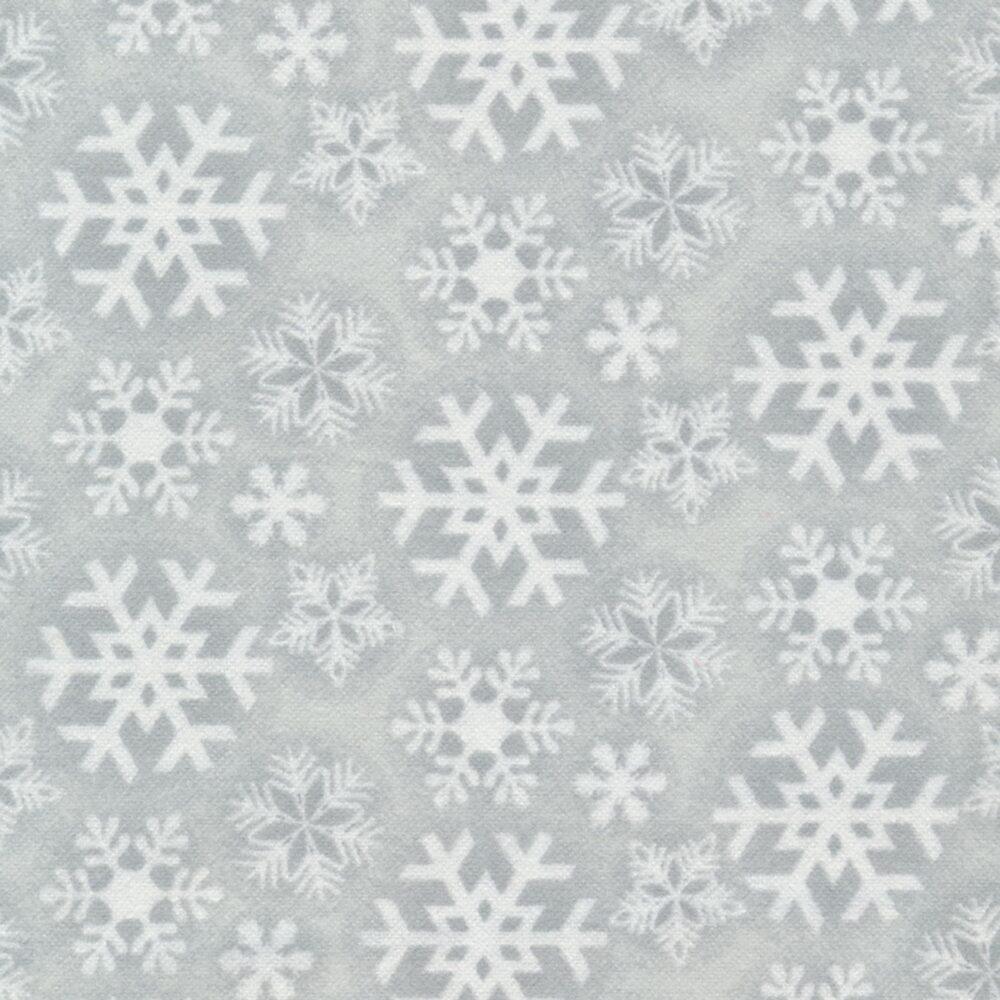 Frosty Friends Flannel F6979-90 Tonal Snowflake Gray by Henry Glass Fabrics