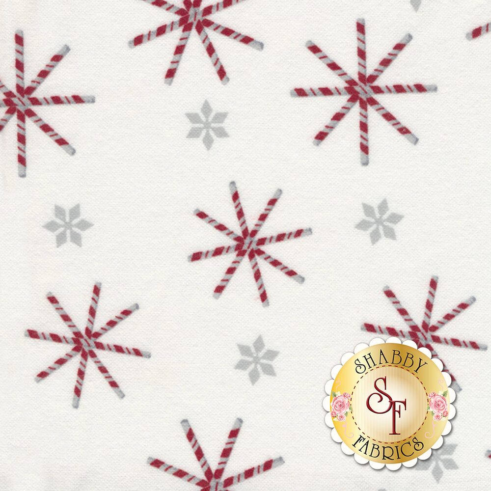Frosty Friends Flannel F6982-8 Candy Canes by Henry Glass Fabrics