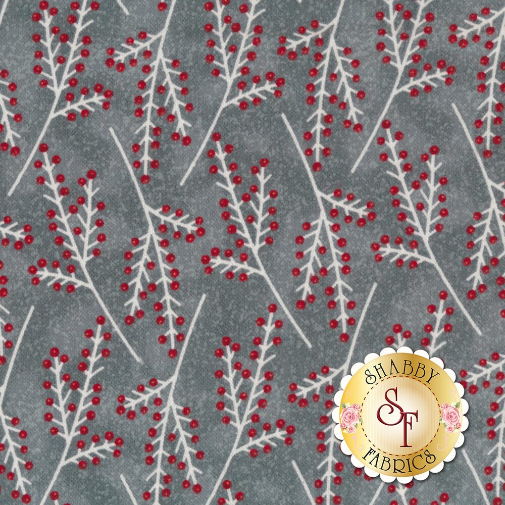 Frosty Friends Flannel F6983-90 Gray Branches Gray by Henry Glass Fabrics