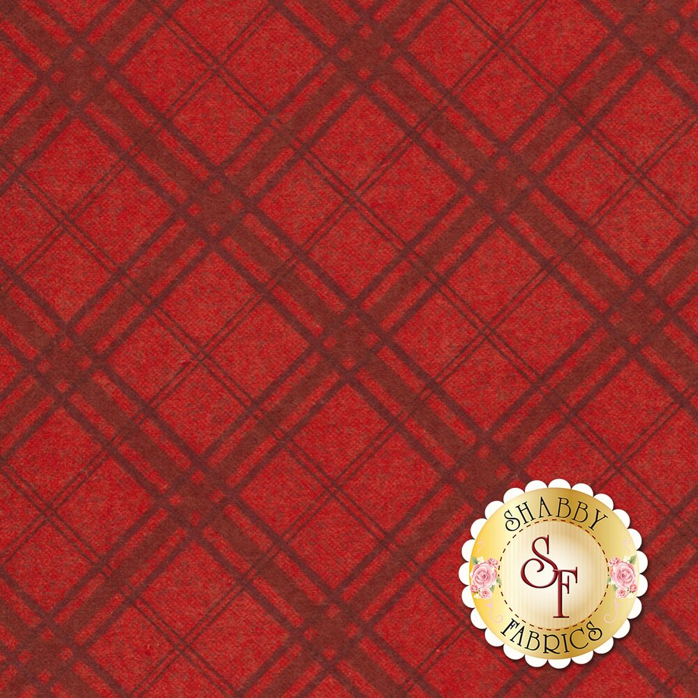 Frosty Friends Flannel F6985-88 Red Plaid by Henry Glass Fabrics