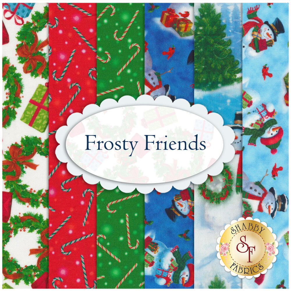 Frosty Friends Flannel  11 FQ Set by Henry Glass Fabrics