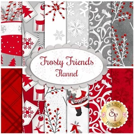 Frosty Friends Flannel  Yardage by Henry Glass Fabrics