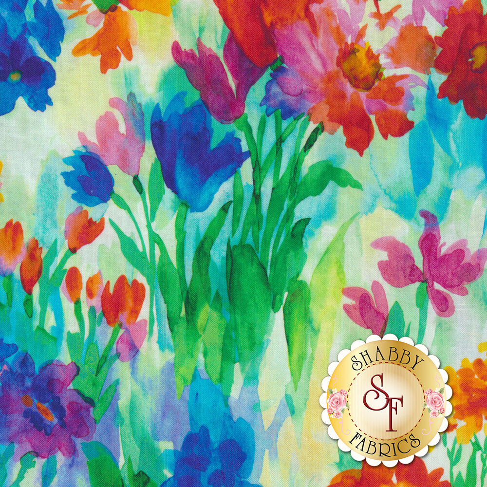 Full Bloom 27174-X Multi by Quilting Treasures Fabrics available at Shabby Fabrics