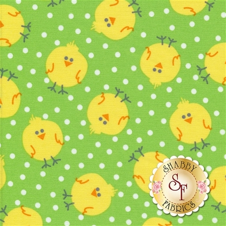 Funny Bunnies 8542-44 Chicky Chicks Lime by Kanvas Studio for Benartex Fabrics