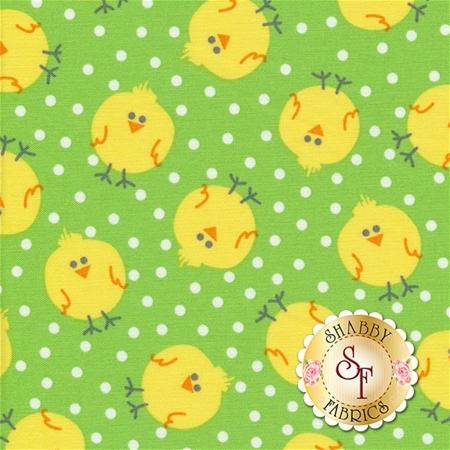 Funny Bunnies 8542-44 Chicky Chicks Lime by Kanvas Studio for Benartex Fabrics