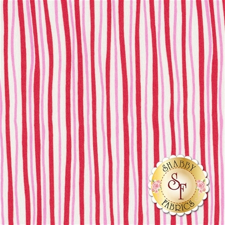 Funny Bunnies 8543-10 Wavy Stripe Red/Pink by Kanvas Studio for Benartex Fabrics