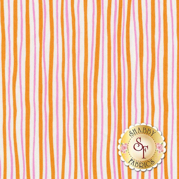 Funny Bunnies 8543-22 Wavy Stripe Orange/Pink by Kanvas Studio for Benartex Fabrics