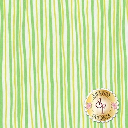 Funny Bunnies 8543-44 Wavy Stripe Green/Lime by Kanvas Studio for Benartex Fabrics