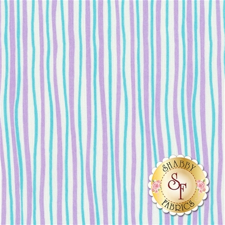 Funny Bunnies 8543-66 Wavy Stripe Lavender/Aqua by Kanvas Studio for Benartex Fabrics