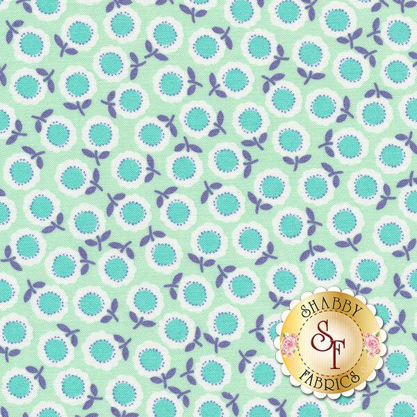 Funny Bunnies 8544-84 Cozy Posie Mint/Aqua by Kanvas Studio for Benartex Fabrics