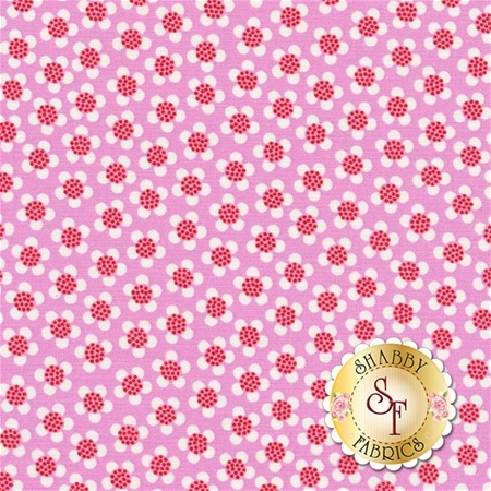 Funny Bunnies 8545-22 Ditsy Daisy Pink by Kanvas Studio for Benartex Fabrics