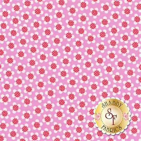 Funny Bunnies 8545-22 Ditsy Daisy Pink by Kanvas Studio for Benartex Fabrics