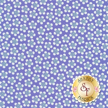 Funny Bunnies 8545-66 Ditsy Daisy Purple by Kanvas Studio for Benartex Fabrics
