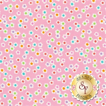 Funny Bunnies 8546-22 Ditsy Daisy Pink by Kanvas Studio for Benartex Fabrics