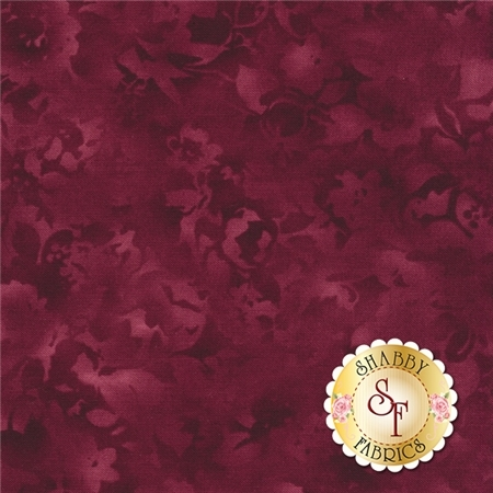 Fusions Bloom SRK-14758-272 CABERNET by Robert Kaufman Fabrics