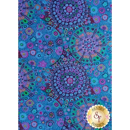 Kaffe Fassett Favorites GP92.BLUE Millefiore Blue by Kaffe Fassett for Westminster Fibers
