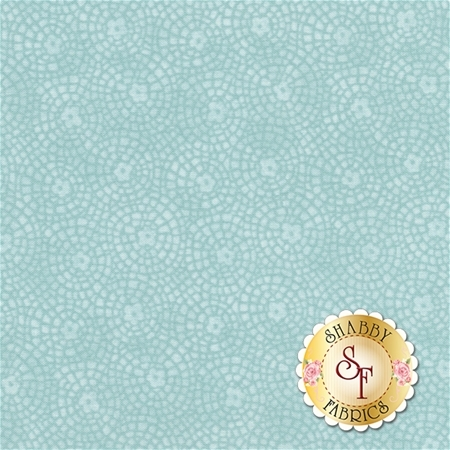 Garden Days 10076-86 Garden Tile Light Teal by Cheryl Haynes for Benartex Fabrics